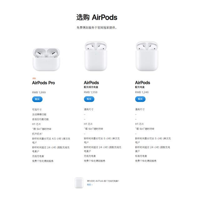 AirPodsPro官网上架!更小体积+主动降噪,卖的比之前更贵了