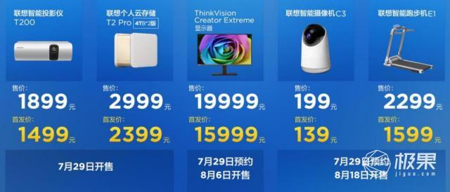 联想连发六大新品!全面智能化设备来袭,售价139元起