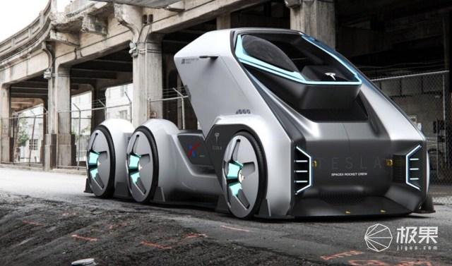 特斯拉概念版太空卡车曝光,极具未来风格!