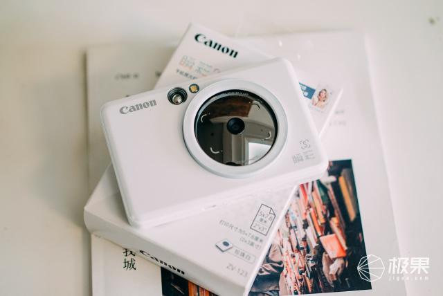 佳能(Canon)瞬彩手机照片打印机拍照版ZV-123