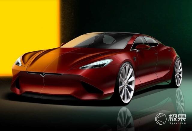 特斯拉新款ModelS渲染圖曝光!極具未來風格,預計2021正式發布
