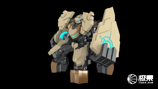工匠社GANKEREX盾山机器人王者荣耀授权格斗竞技对战拳击智能遥控机器人