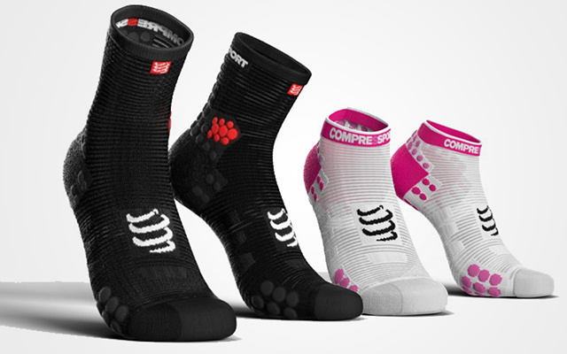 Compressport 3D豆 跑步袜